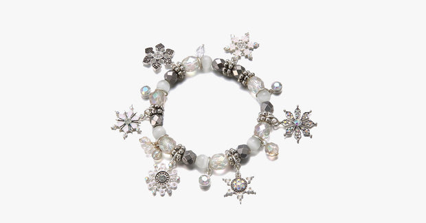 White Christmas Charm Bracelet - FREE SHIP DEALS