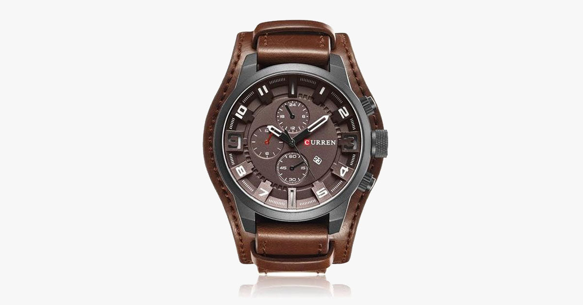 Leather Strap Brown Watch - FREE SHIP DEALS