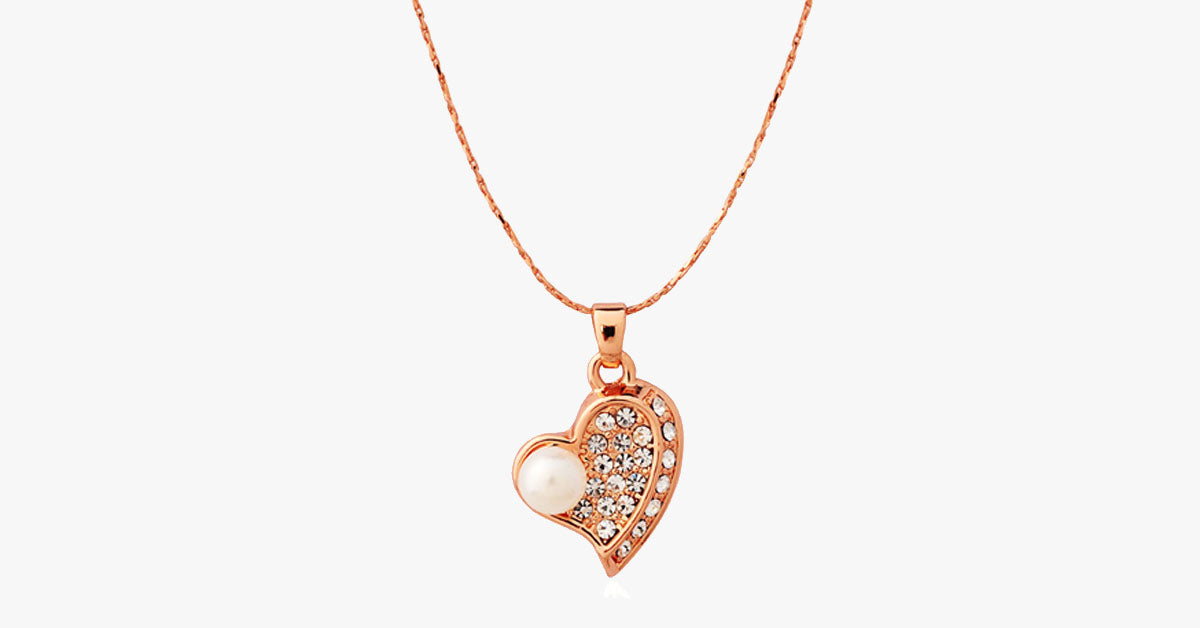 Pure and Fresh Pearl Heart Pendant - FREE SHIP DEALS