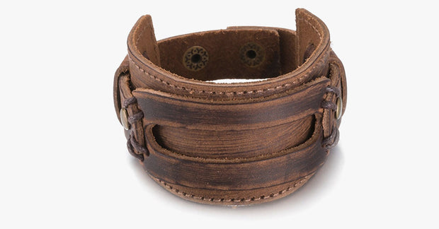 Leather Wide Cuff Bracelet - FREE SHIP DEALS