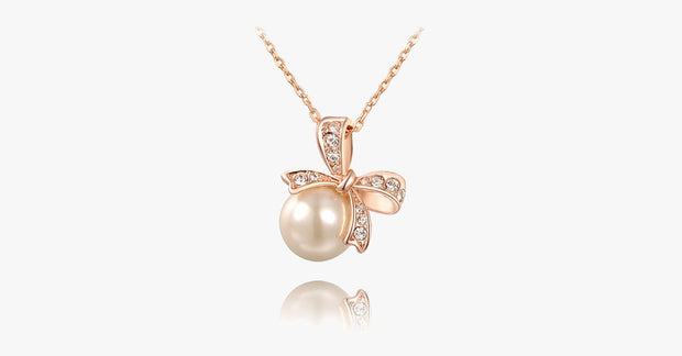 Bow Pearl Necklace - FREE SHIP DEALS