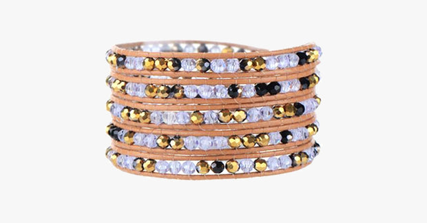 Purple Gold Wrap Bracelet - FREE SHIP DEALS