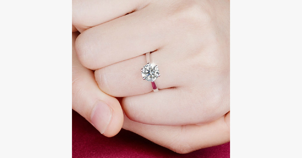 Silver Plated Crystal Ring - FREE SHIP DEALS