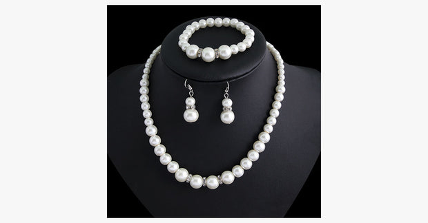 Classic Pearl Necklace Set - FREE SHIP DEALS