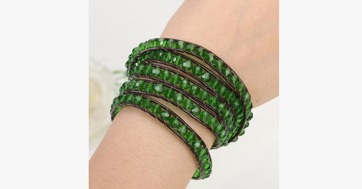 Green Ivy Wrap Bracelet - FREE SHIP DEALS