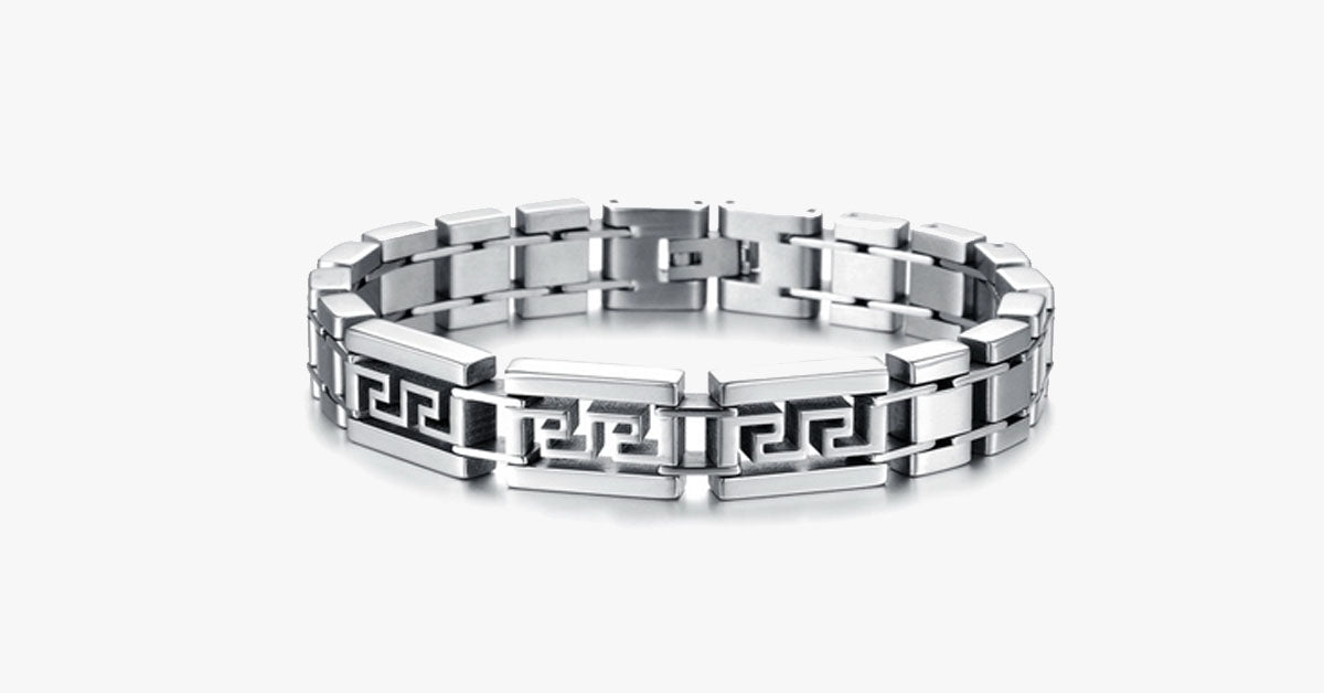 Maze Men's Stainless Steel Bracelet