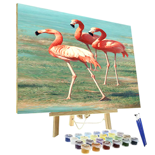 Paint By Numbers Kit - Flamingos