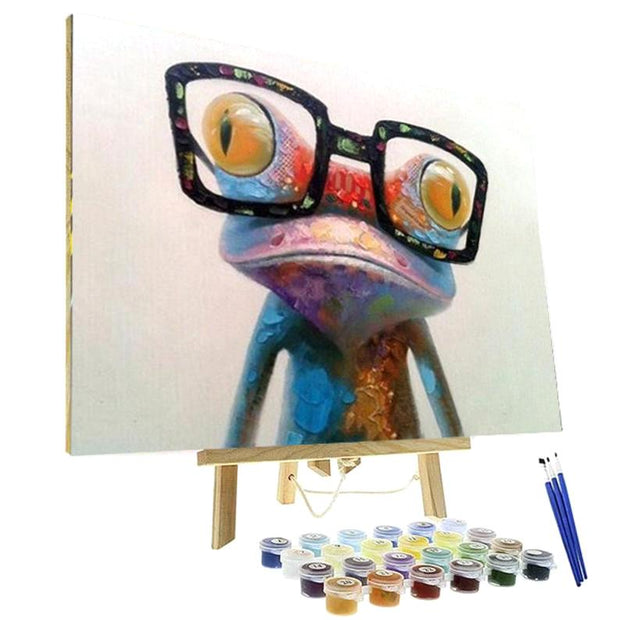 Paint By Numbers Kit - Nerdy Frog
