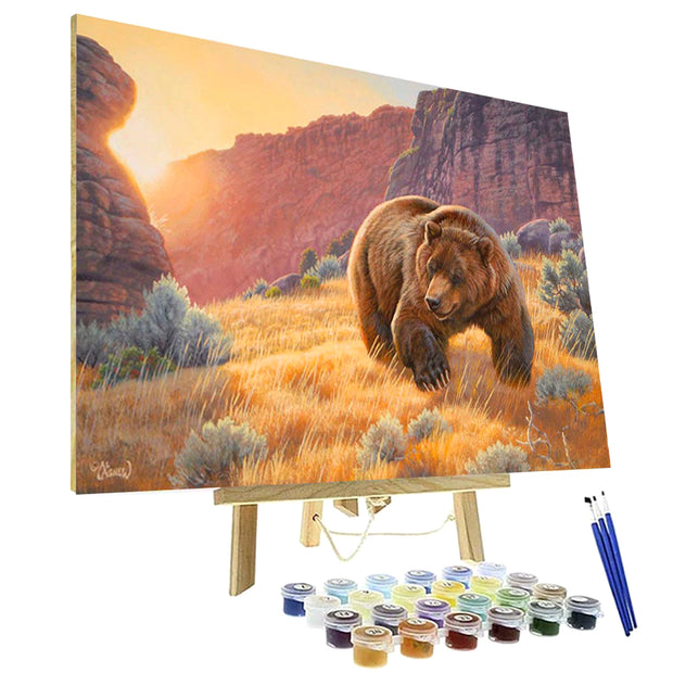 Paint By Numbers Kit - Canyon Visitor