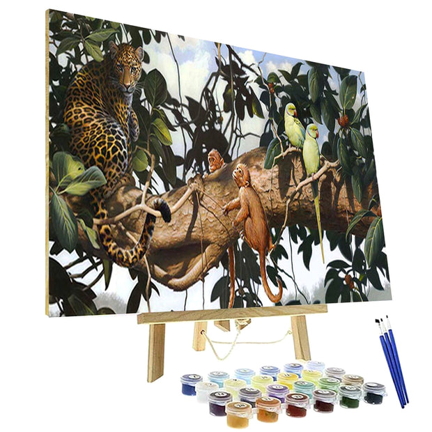 Paint By Numbers Kit - Jungle Scene
