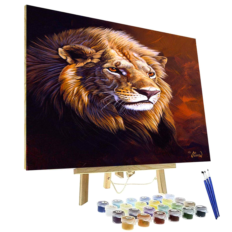 Paint By Numbers Kit - Lion Study
