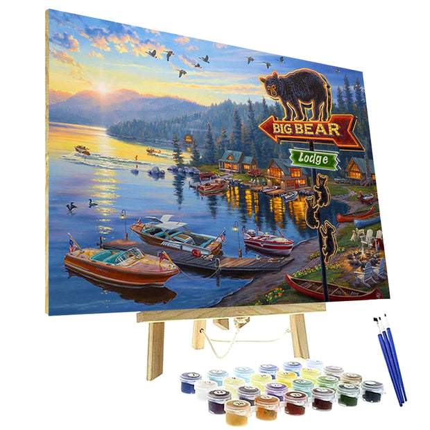 Paint By Numbers Kit - Big Bear Lodge