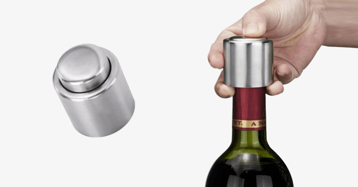 Stainless Steel Vacuum Wine Sealer – Seal Your Wine And Make It Last Longer!