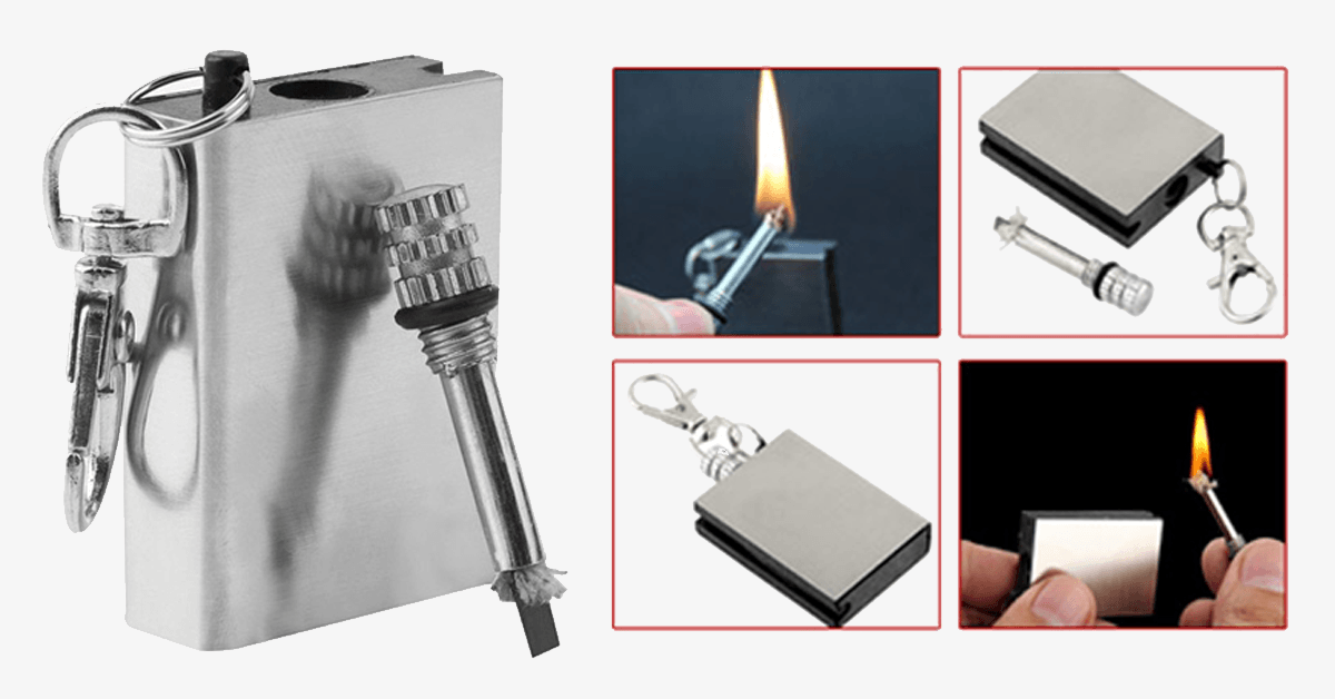 Emergency Fire Starter Flint Match Lighter Metal Camping Hiking Instant Survival Safety Durable - FREE SHIP DEALS