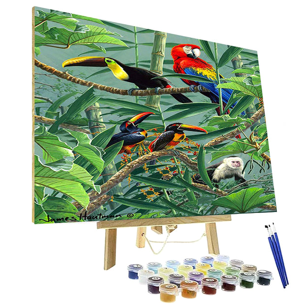 Paint By Numbers Kit - Rainforest Menagerie