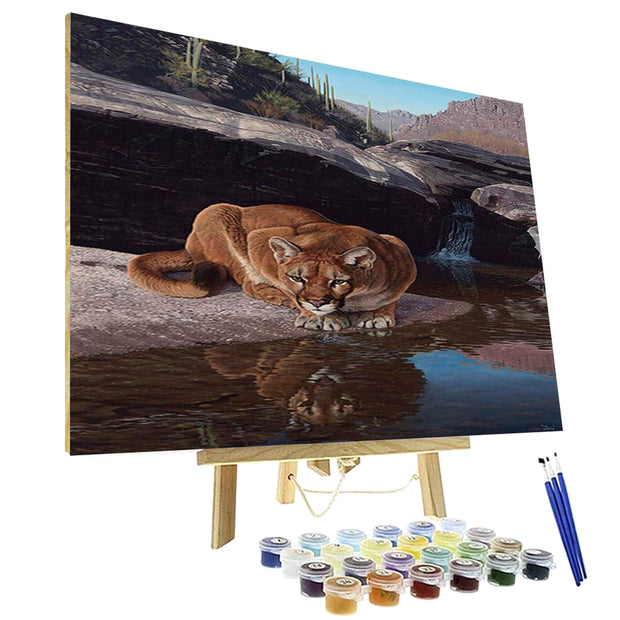 Paint By Numbers Kit - Canyon Oasis