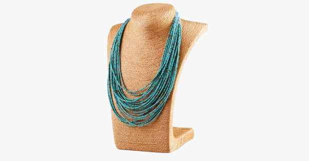 Turquoise Bohemian Bead Necklace - FREE SHIP DEALS