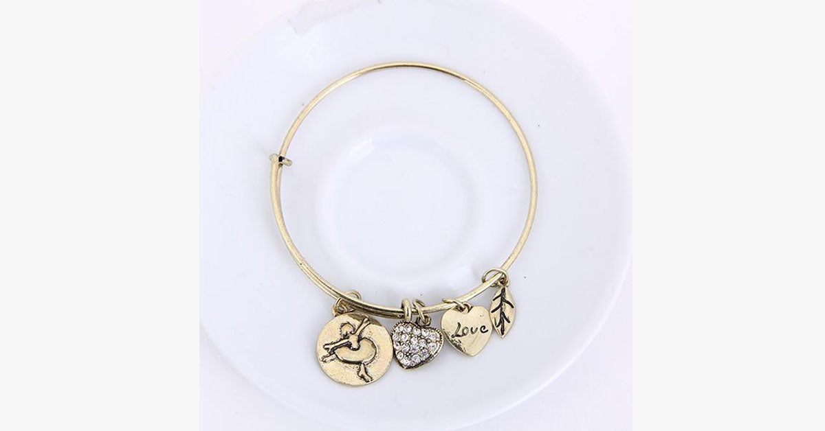 Ballet Love Charm Bangle - FREE SHIP DEALS
