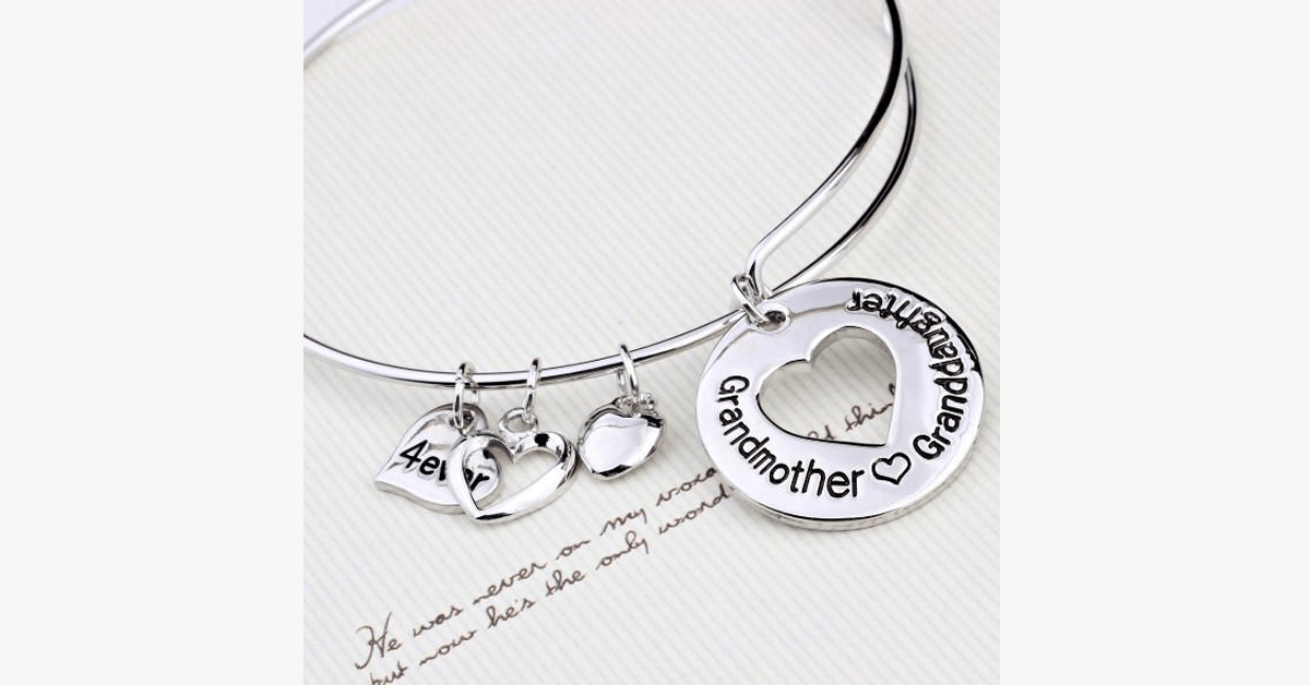 Grandmother Love Granddaughter Charm Bangle - FREE SHIP DEALS