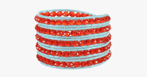Red Gem Wrap Bracelet - FREE SHIP DEALS