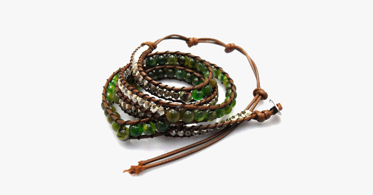 Snake Eye Desert Hex Wrap Bracelet - FREE SHIP DEALS