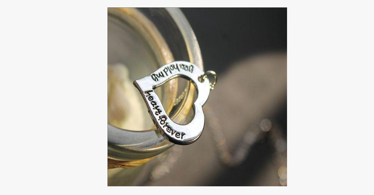 You Hold My Heart Forever Necklace Free Ship Deals