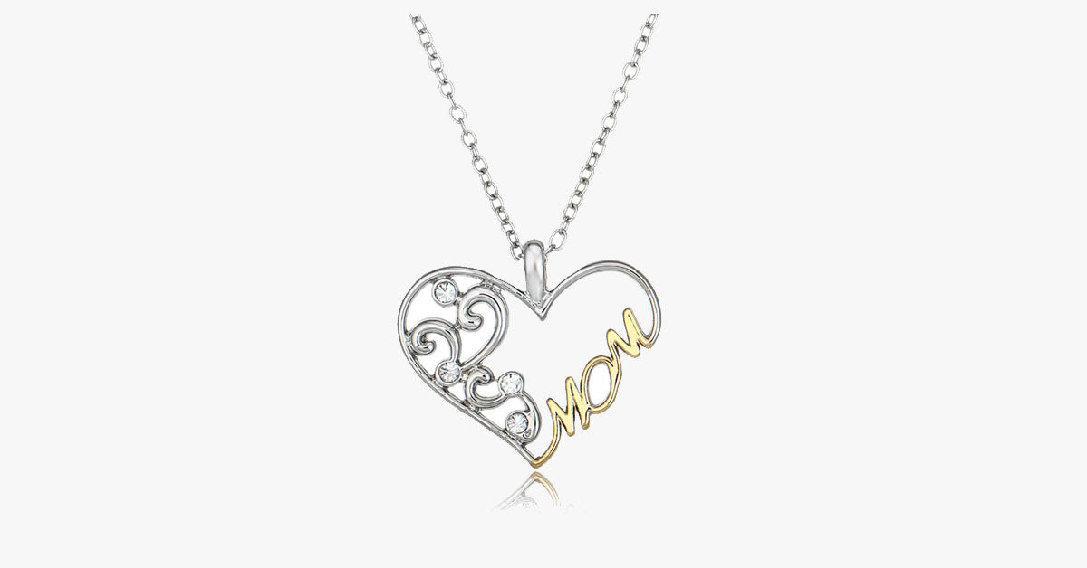 Double color mom heart pendant necklace free ship deals double color mom heart pendant necklace free ship deals mozeypictures Image collections