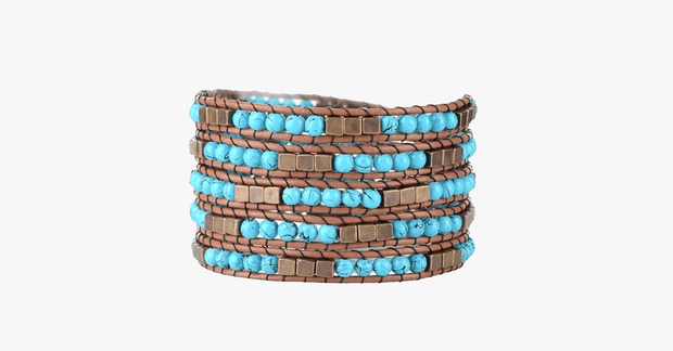 Egyptian Turquoise Wrap Bracelet - FREE SHIP DEALS