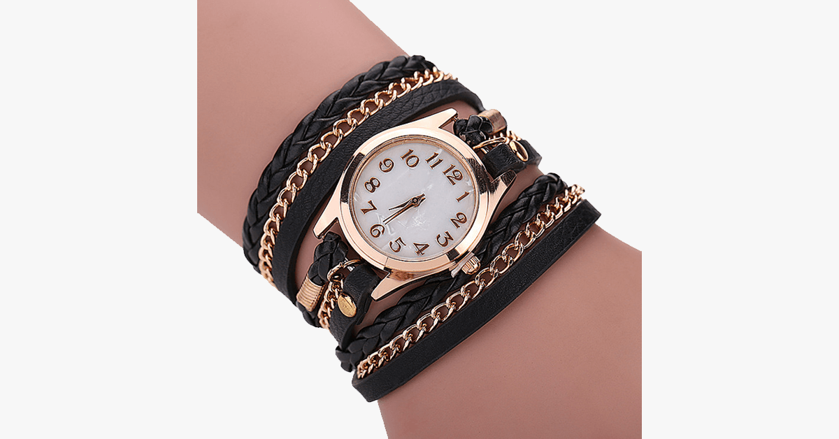 Gold Dial Quartz Watch - FREE SHIP DEALS