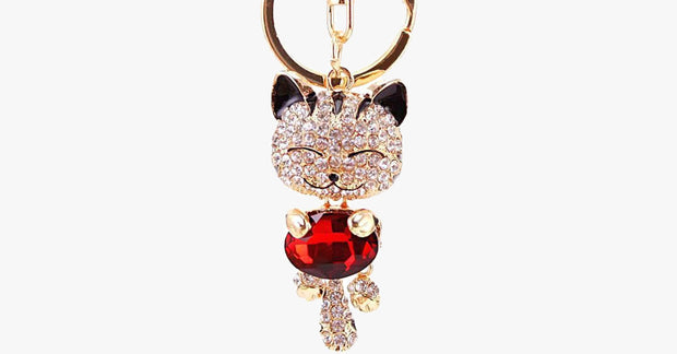 Cute Gold Cat Keychain – So That You Never Forget Your Keys Again!