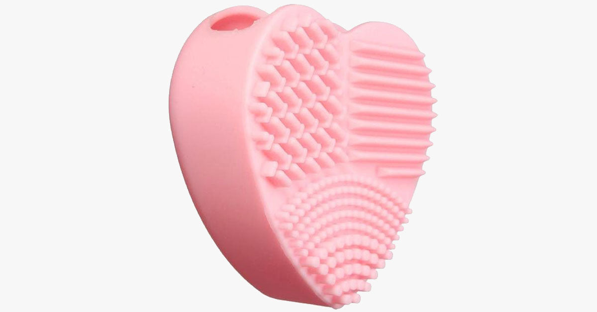 Heart Shape Silicone Cosmetic Brush Cleaner Board - FREE SHIP DEALS