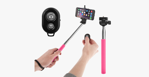 Selfie Stick With Remote Bluetooth Shutter Button – Take Pictures Like Never Before!