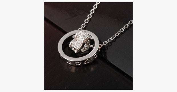 Double Heart Ring Necklace - FREE SHIP DEALS