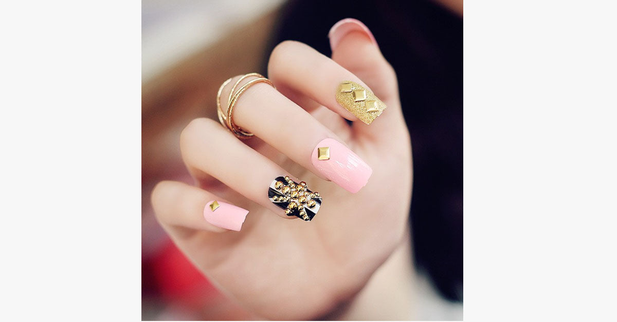Acrylic Studded Nails - FREE SHIP DEALS