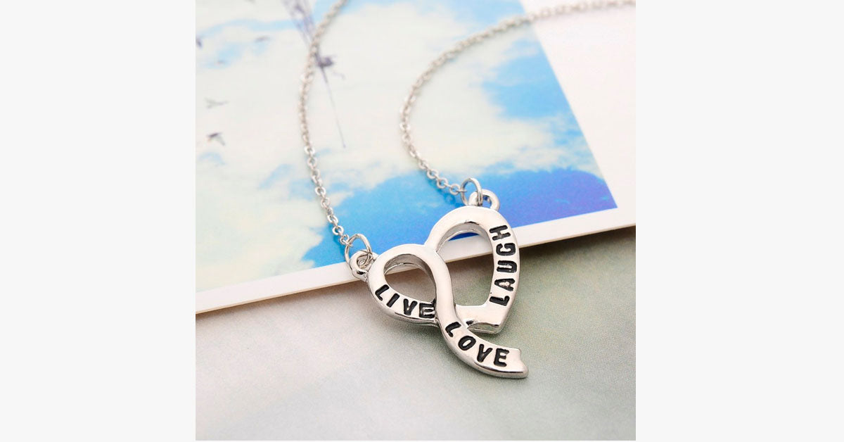 Live Love Laugh Heart Necklace - FREE SHIP DEALS