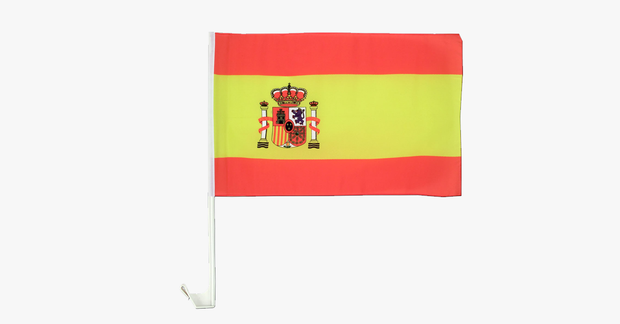 Spanish Flag Car Window Pole Decoration