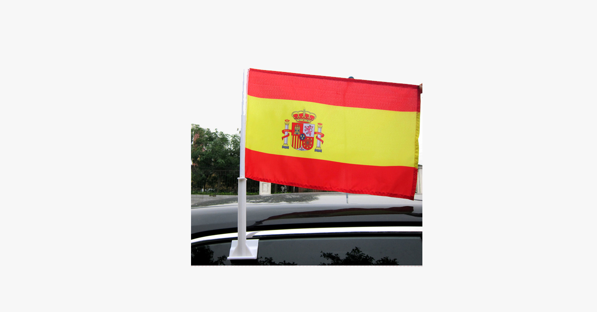 Spanish Flag Car Window Pole Decoration – Go Complete Spanish With Your Patriotic Self!