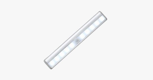 Stick-on Anywhere 10 LED Wireless Motion Sensing Light Bar