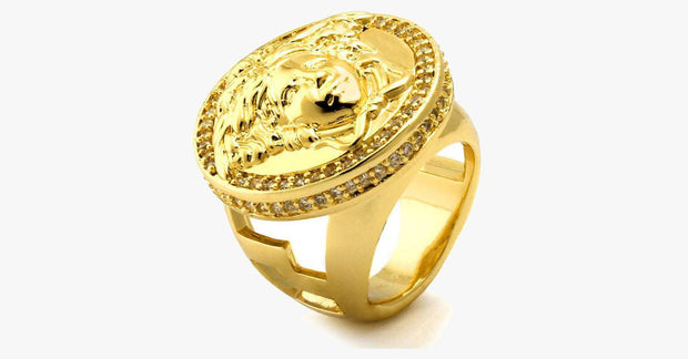 Yellow-Gold Medusa Ring - FREE SHIP DEALS
