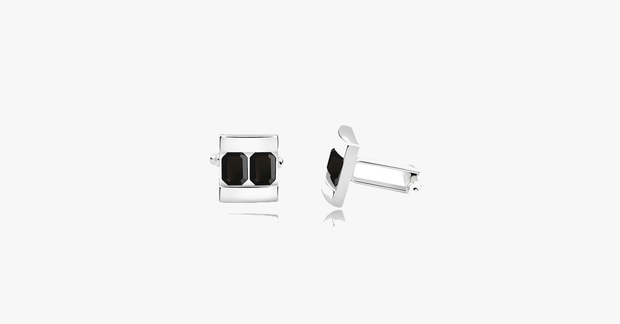 Two Platinum Cufflink - FREE SHIP DEALS