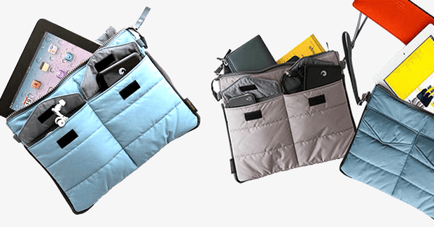 Slim Bag-in-Bag Organizer For Tablets - Assorted Colors - FREE SHIP DEALS