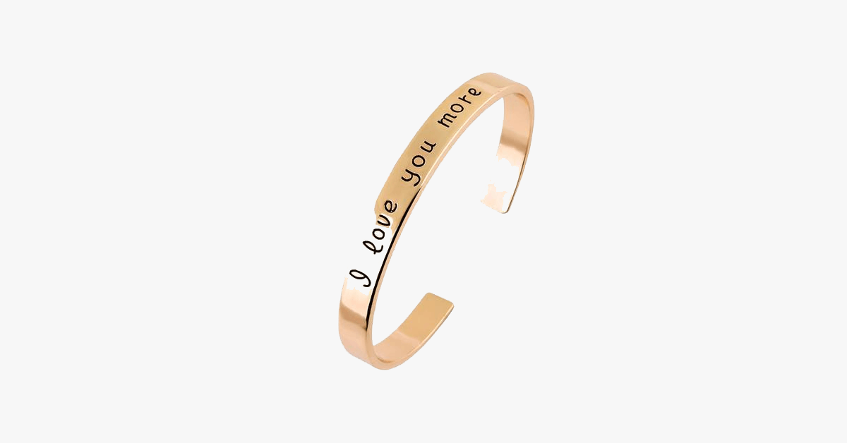 18k Gold Plated - I Love You More Bangle - FREE SHIP DEALS