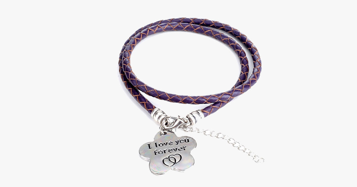 I Love You Forever - Hand Stamped Bracelet - FREE SHIP DEALS
