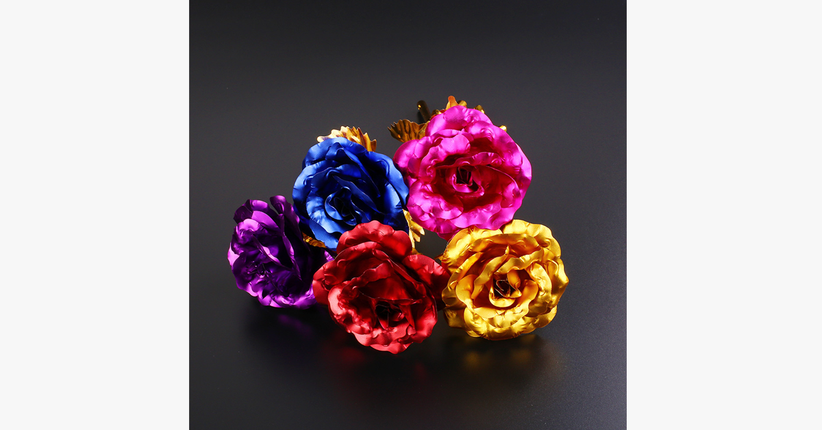 24K Forever Gold Plated Rose - Assorted Colors - FREE SHIP DEALS