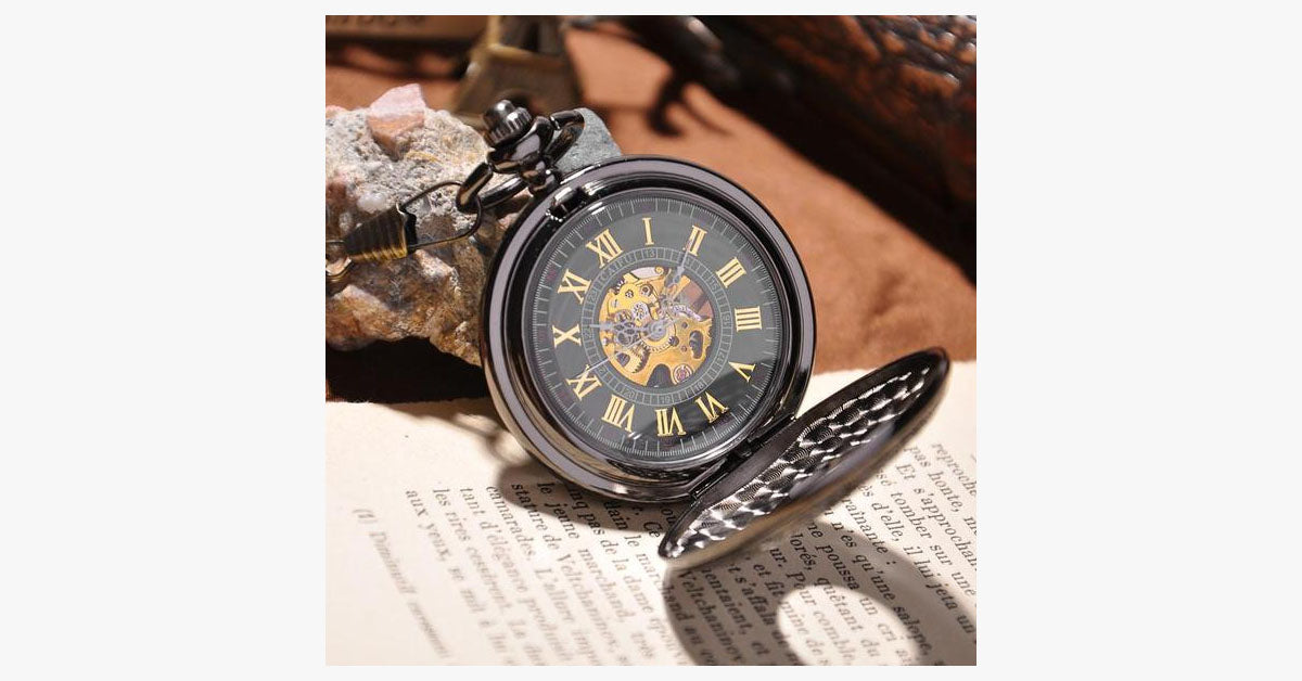 Black Vine Pocket Watch - FREE SHIP DEALS