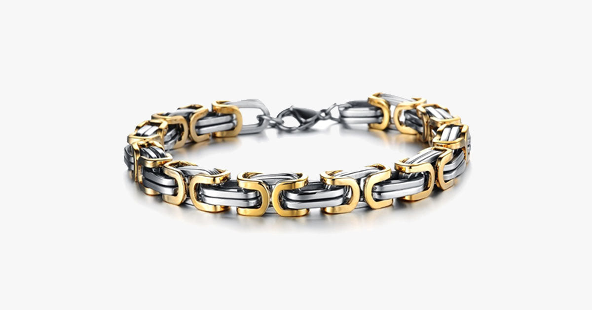 Gold Overlay Stainless Steel Bracelet - FREE SHIP DEALS