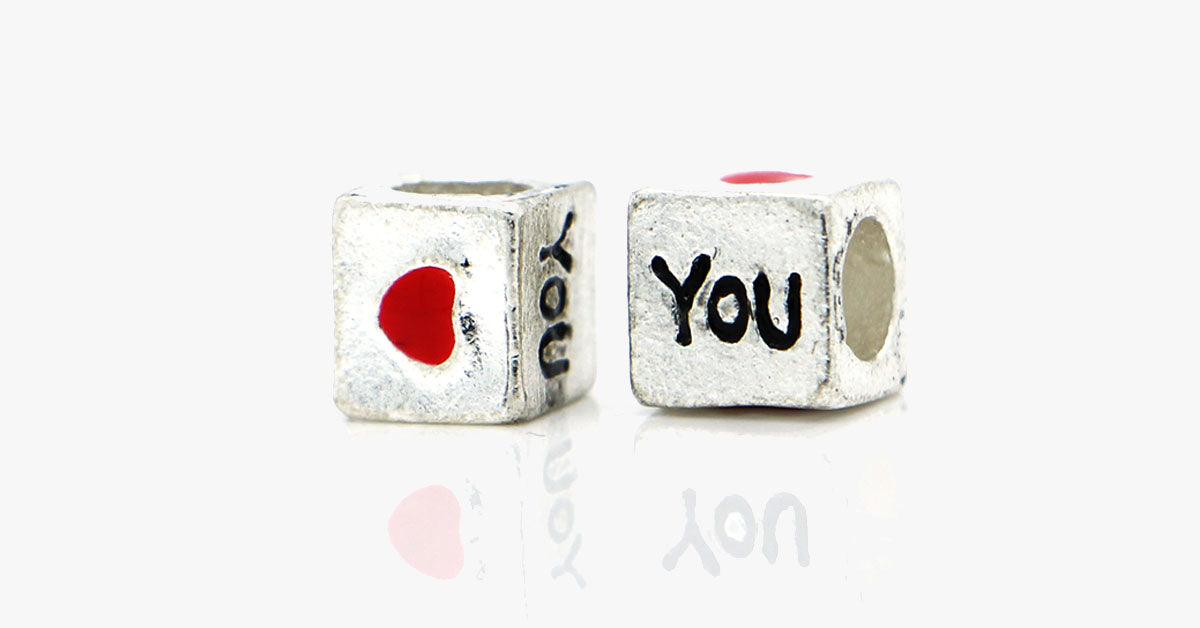 Love You Block Charm - FREE SHIP DEALS