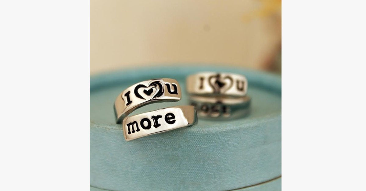 I Love You More Hand Stamped Ring - FREE SHIP DEALS