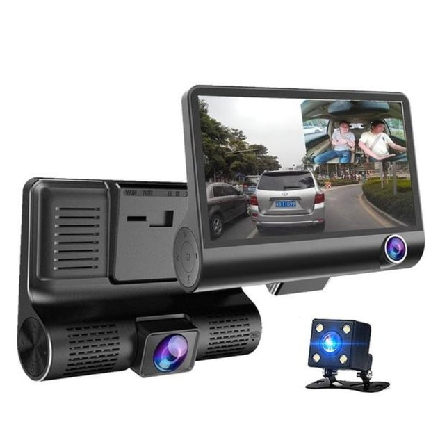 Car DVR with 3 Camera Lens