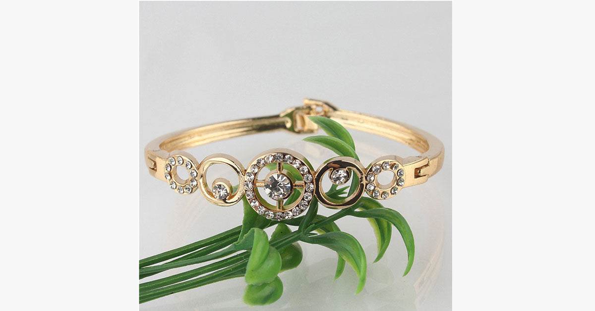 Gold Plated Crystal Bangle - FREE SHIP DEALS